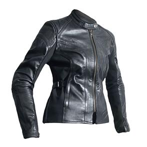 RST LADIES KATE CE LEATHER JACKET [BLACK]